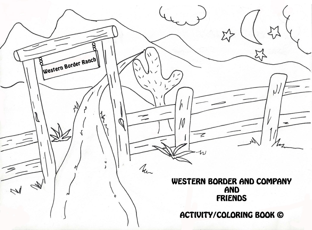 Western Border Coloring Pages with Friends | Western Border and Co ...