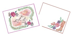 Western Border Note Cards